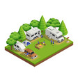 recreational vehicles isometric composition vector image