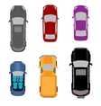 Set of six vehicles Coupe convertible sedan vector image