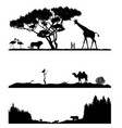 taiga desert and savannah vector image