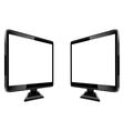 Two monitors in the projection vector image