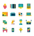 Web Design Flat Icons Set vector image