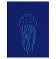 Jellyfish under water Marine life vector image