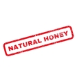 Natural Honey Rubber Stamp vector image