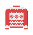 Red Winter Sweater vector image