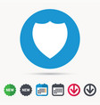 shield protection icon defense equipment sign vector image