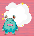 A stationery with a blue hairy monster vector image