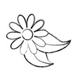 isolated cute flower vector image