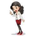 A fashionable businesswoman vector image vector image
