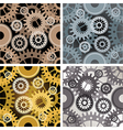 Seamles gear pattern vector image