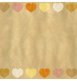 Retro Heart Background vector image
