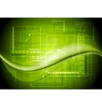 Bright technology waves background vector image