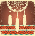 Dream catcher poster with ethnic ornament vector image vector image