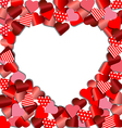 Heart frame from red paper for Valentine card vector image vector image