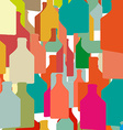wine bottles and glasses vector image