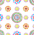 Watercolor Retro pattern of geometric shapes vector image