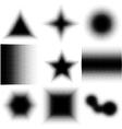 Halftone Dotted Shapes Logo Design vector image