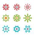 abstract red green blue design icon logos set vector image