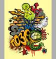 Graffiti elements vector image