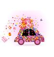 hippie car vector image