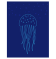 Jellyfish under water Marine life vector image