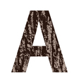 letter A made from oak bark vector image