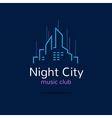 Night city logo city skyline logotype vector image