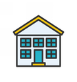 School Outline Icon vector image