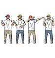 vintage colored rappers set vector image