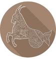Flat icon of zodiac sign Capricorn vector image vector image