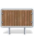 Wooden Industrial Board vector image