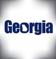Georgia state graphic vector image