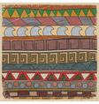vintage tribal pattern vector image vector image