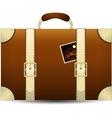 Brown Travel Suitecase vector image