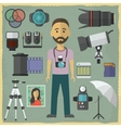 Photography character flat design vector image