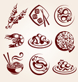 food elements set vector image vector image