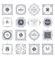 Monogram luxury elements vector image