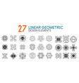 collection of linear geometric monograms vector image