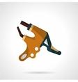 Colored handlebar brake icon vector image