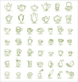 cups and teapots doodles vector image