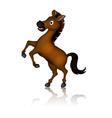 cute brown horse cartoon posing vector image