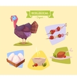 Farm animal and products made out of them vector image