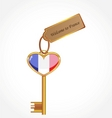 key to France vector image