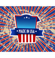 Made in USA label on grunge background vector image
