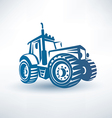 modern tractor symbol vector image
