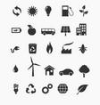 Renewable energy icon set vector image
