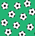 Soccer ball seamless pattern vector image