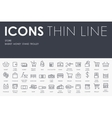Store Thin Line Icons vector image