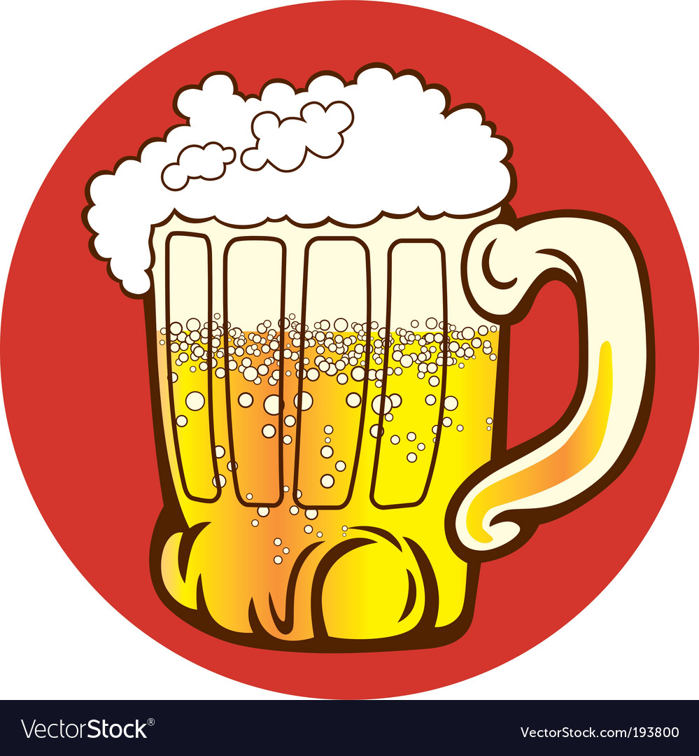 Mug of beer vector
