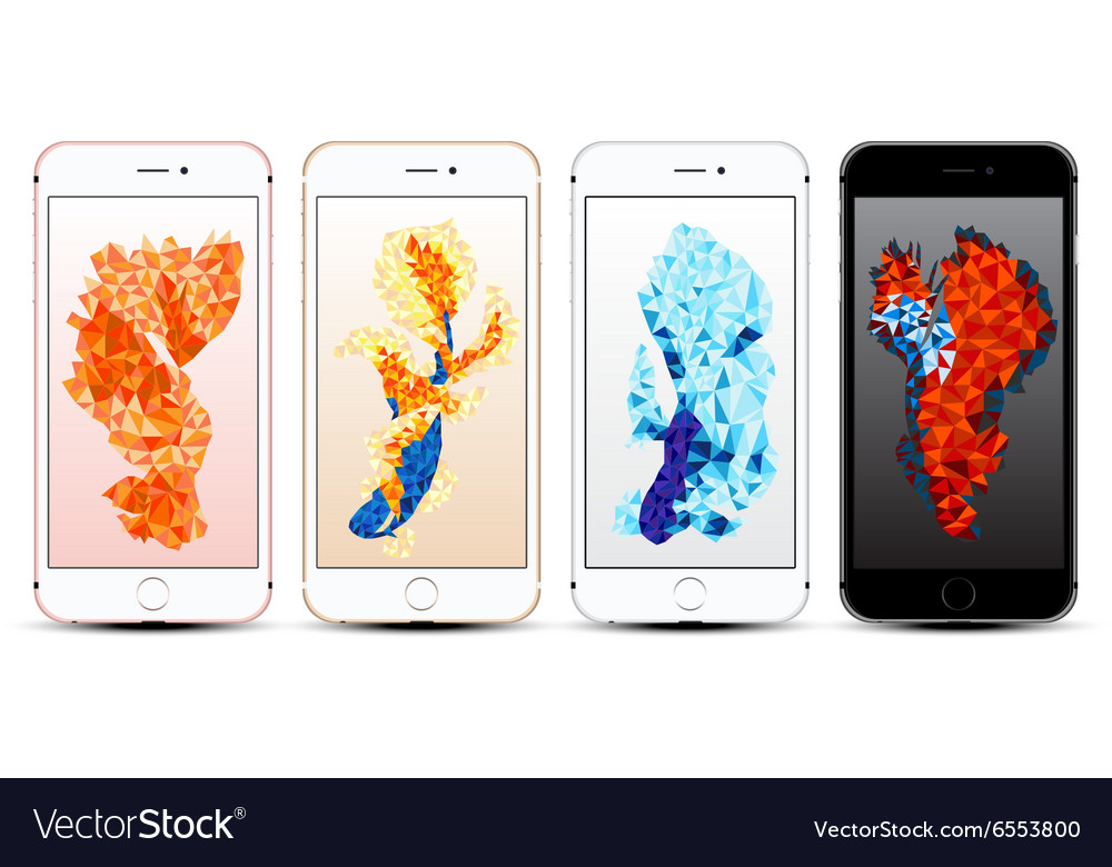Smartphone with fish background vector