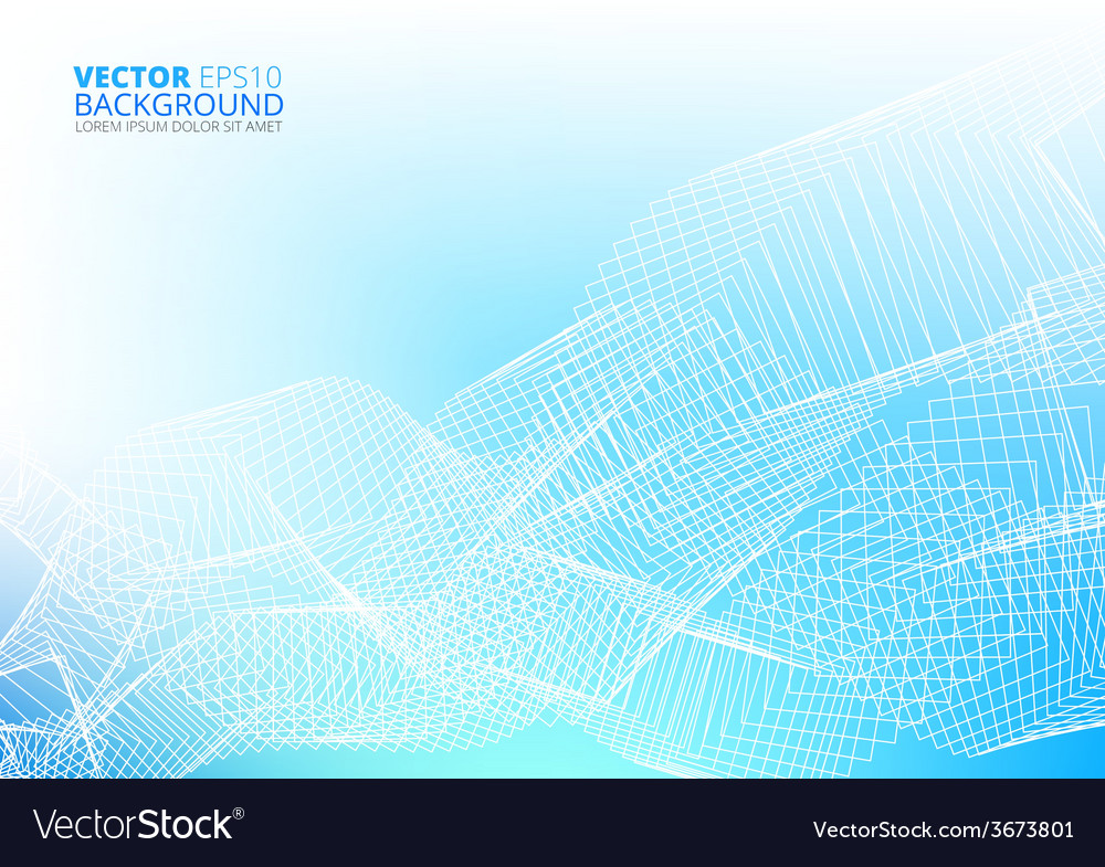 Blue abstract lines vector